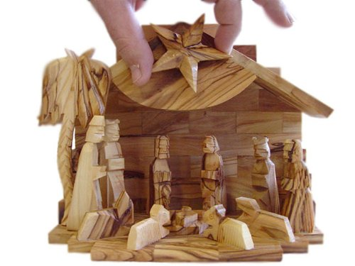 (Olive Wood Silent Night Musical Nativity)