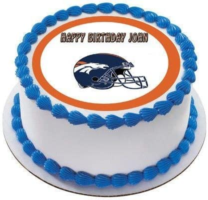 Amazon Com Denver Broncos Edible Birthday Cake Or Cupcake Topper