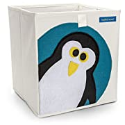 Foldable Cube Storage Bin Box for Nursery or Kids Toys (Penguin)
