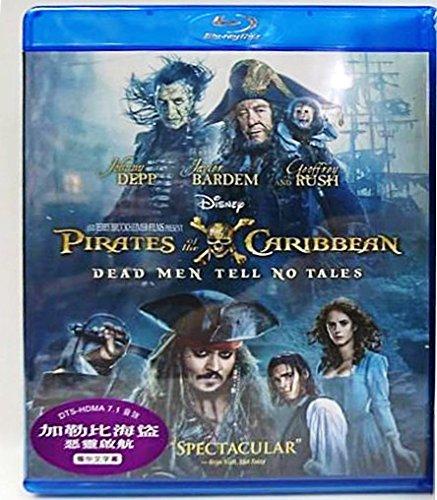 Pirates Of The Caribbean  Dead Men Tell No Tales  Region A Blu Ray   Hong Kong Version   English Language  Mandarin Dubbed