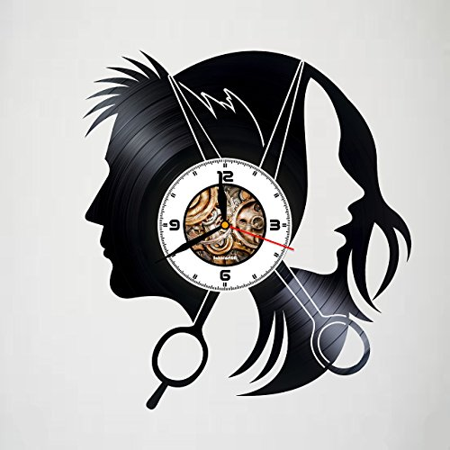 Hairdresser - Scissors - Handmade Vinyl Clock, Wall Decor, Home Art Decoration, Modern Art, Gift Idea For Man And Woman, Vintage Vinyl Record, Home Décor - Movie Character - Unique Art Design -