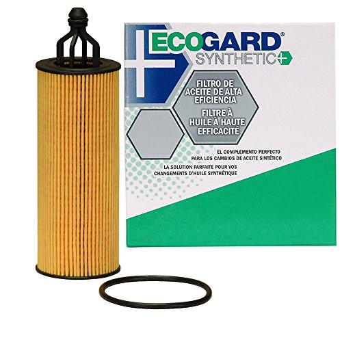 - ECOGARD S10040 Cartridge Engine Oil Filter for Synthetic Oil - Premium Replacement Fits Jeep Grand Cherokee, Wrangler, Cherokee / Dodge Grand Caravan, Charger, Journey, Durango, Challenger, Avenger