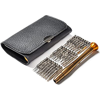 25 in 1 Precision Screwdrivers Set,Screwdriver Tool Set with Black Bag for Macbook,Mobile Phone,PC Laptop,Tablet,iPad,Watch,Car Keys - Fengbao