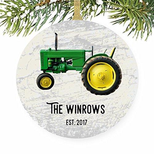 Green Tractor Christmas Tree Ornament For Farmer And (John Deere Favor)