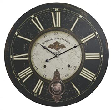 kensington railway station extra large wall clock 23in