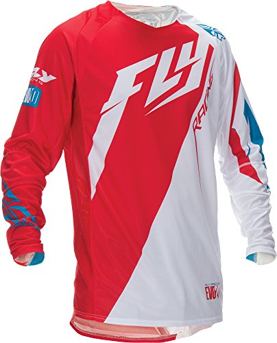 Fly Racing Unisex-Adult Evolution Switchback 2.0 Jersey White/Red/Blue medium
