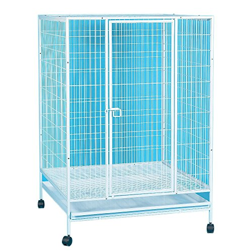 YML 35-Inch Small Animal Cage with Wire Bottom Grate and Pla
