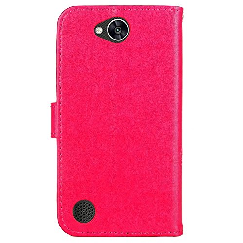 Sottile Borsa M320G Marron Bumper LEMORRY LG LG Magnetico LG Cuoio Morbido Protettivo Portafoglio Cover X Pelle Clover per fortunato Power2 Charge Custodia Rosa Power Custodia Silicone X 2 X TPU Flip wzwqF
