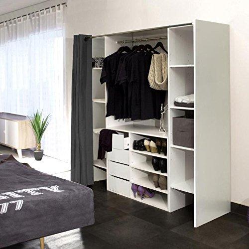 placard avec rideau perfect dco chambre bb rideaux pour les filles et les garons avec rideau. Black Bedroom Furniture Sets. Home Design Ideas