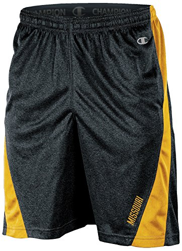 Champion NCAA Missouri Tigers Adult Men Training Short with Contr, X-Large, Black ()