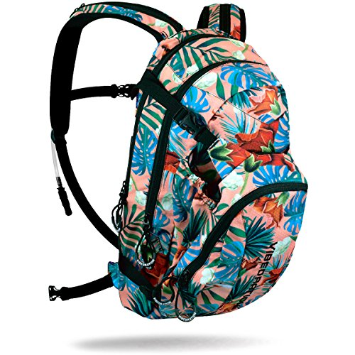 Vibedration Camping Hydration Pack   3L Water Capacity   Music Festivals  Raves  Hiking  Climbing  And More  Maui Wowi   Coral