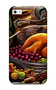 New Style Tpu 5c Protective Case Cover/ Iphone Case - Thanksgiving Cartoon