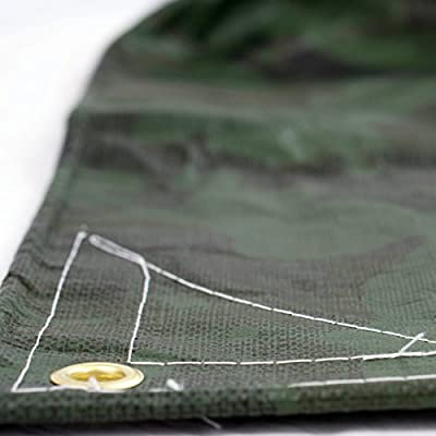 Heavy Duty Waterproof Camo Tarp - Reversible Camouflage/Green Tarp - 6x8 with UV Protection for Outdoor Camping RV Truck and Trailers