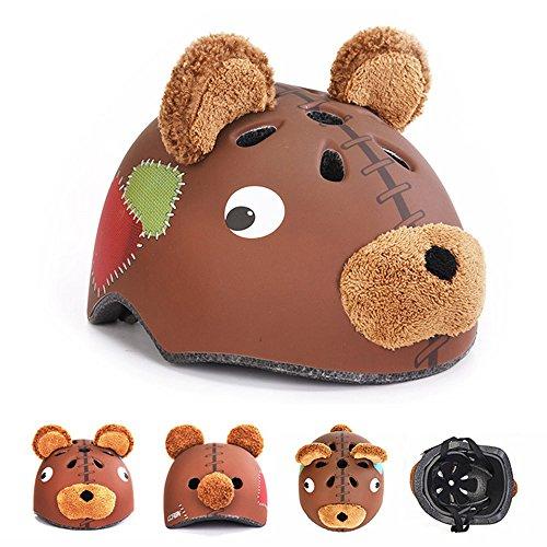 Novelty Children Safety Helmet Children Multi-Sport Animal Head Helmet for Skateboard Cycling Skate Scooter Roller (Teddy, S) Review