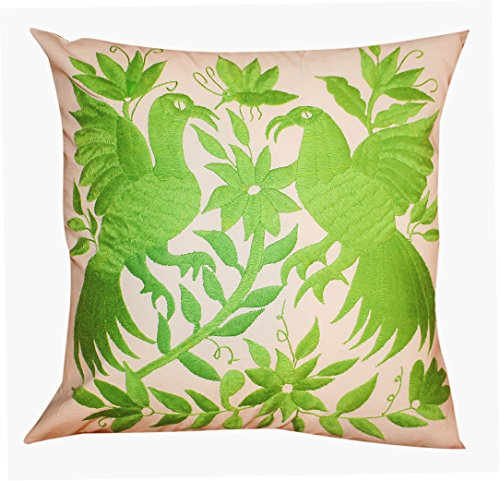 Del Mex Hand Embroidered OTOMI Throw Pillow Cover 18