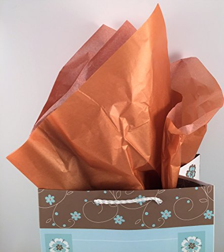 Tissue Paper Gift Wrap Bronze 4 Pack 20 x 20 Inch Sheets by Stone Creek Boutique