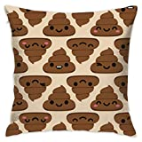 Where to Buy Emoji Bedding Watercress Jam Cute Poop Cartoon Emoji Throw Pillow Covers Decorative Pillowcases Toss Pillow Cushion Slips Covers for Sofa Couch Car 18