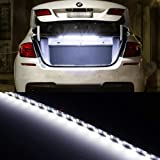 infiniti car accessories - iJDMTOY 18-SMD-5050 LED Strip Light For Car Trunk Cargo Area or Interior Illumination, Xenon White