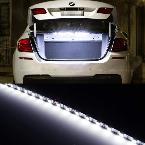 iJDMTOY 18-SMD-5050 LED Strip Light For Car Trunk Cargo Area or Interior Illumination, Xenon White