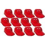 MLB Mini Batting Helmet Ice Cream Sundae/ Snack Bowls, Angels - 12 Pack