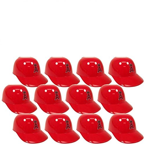 MLB Mini Batting Helmet Ice Cream Sundae/ Snack Bowls, Angels - 12 - Mlb Mini Angels