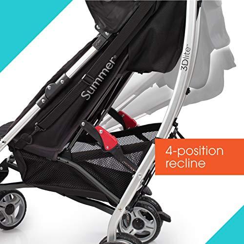 51Idmc7o92L - Summer 3Dlite Convenience Stroller, Teal – Lightweight Stroller With Aluminum Frame, Large Seat Area, 4 Position Recline, Extra Large Storage Basket – Infant Stroller For Travel And More