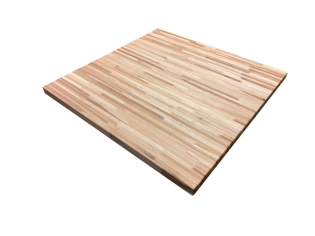 Forever Joint Hickory Butcher Block Table Top - 1.5'' x 36'' x 36'' by Forever Joint Tops