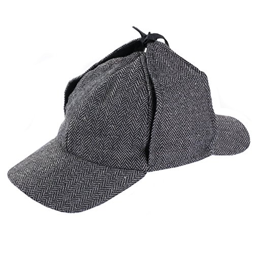 Funny Party Hats Sherlock Holmes Hat - Detective Hat - Deerstalker Hat - Tweed Sherlock Holmes -