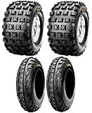 NEW Front & Rear ATV 4 Tires Tire Set 20X10/9 21X7/10 20x10x9 21x7x10 Honda 250R 400EX 450R ATC TRX Yamaha Raptor YFZ450