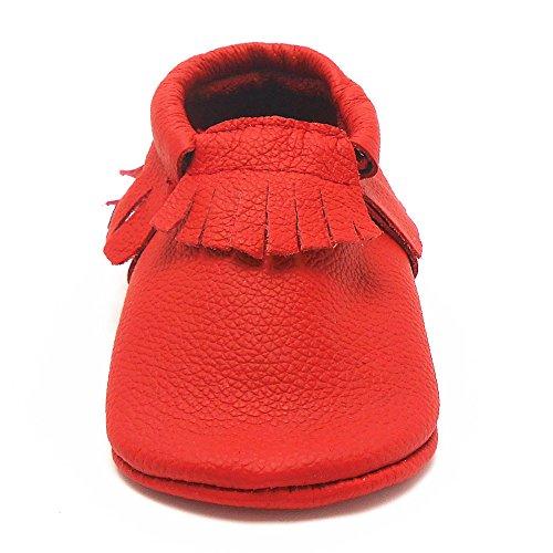 Erste Baby Sayoyo Quaste Krippe Leder Rot Mdchen Schuhe Kleinkind Weiche gwqAZ0