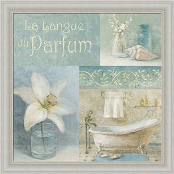 Coastal Floral I By Danhui Nai Blue Bath Bathroom Wall Art Print Framed D Cor
