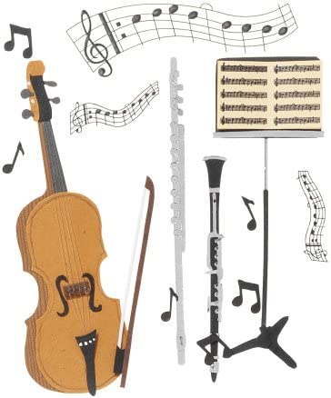 Jolee/'s Boutique Dimensional Stickers-Musical Trio SPJB-087