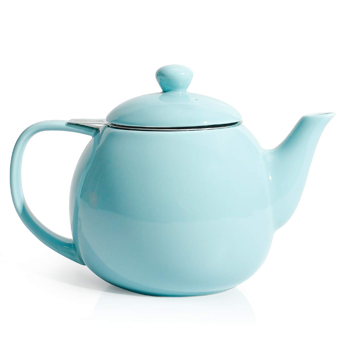 Sweese 221.102 Teapot, Porcelain Tea Pot with Stainless Steel Infuser, Blooming & Loose Leaf Teapot - 27ounce, Turquoise