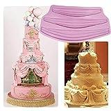 Cake Mold-WindGoal Long Ribbon Swag Mold Silicone Fondant Border Icing Sugarcraft Mold
