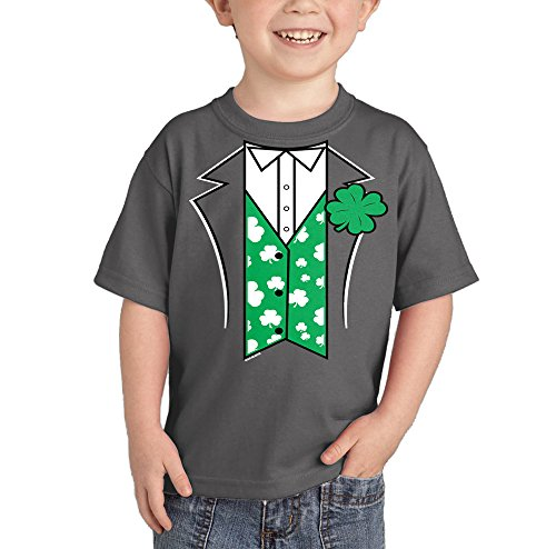 HAASE UNLIMITED Irish Tuxedo T-Shirt (Charcoal, 2T)