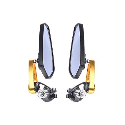 OSAN 2 x 22?mm 7//8 Motorcycle Universal CNC Aluminum Handlebar End Mirror
