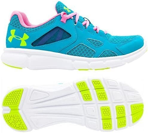 Under Armour Mujer Emoción Zapatillas Running - Pacific Azul/Rosa/Amarillo (1258735-478), 2.5 UK / 35 EU: Amazon.es: Deportes y aire libre