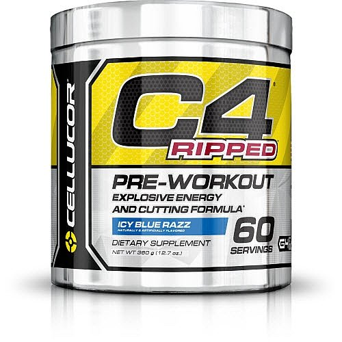 Cellucor C4 Ripped PreWorkout Icy Blue Razz 60 Servings