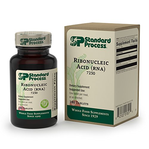 Standard Process - Ribonucleic Acid (RNA) - Supports Healthy Cellular Growth and Function, Protein Synthesis, 15 mg Calcium, Gluten Free and Vegetarian - 180 Tablets -  7230