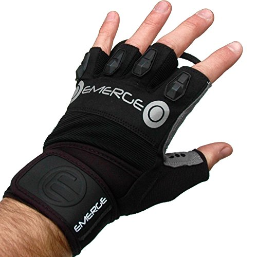 Weight Lifting Gym Gloves – Half Finger Callus Guards with Padded Leather...