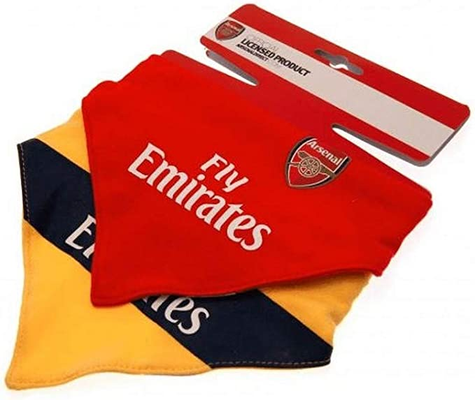 Arsenal FC official Football Club Kit 2pk gift baby Bib dribble bib Set AFC902
