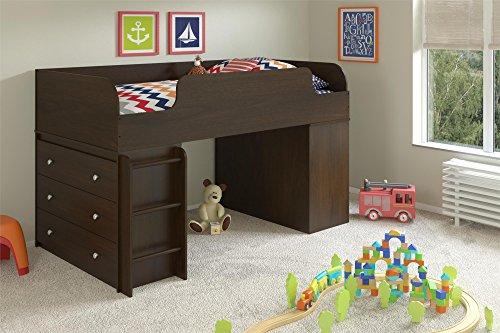 Cosco Products Elements Loft Bed Bundle Platform 3 Drawer...