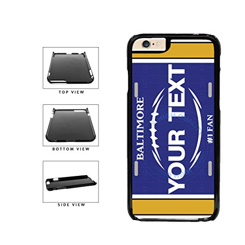 (BleuReign(TM) Personalized Custom Name Football Baltimore License Plate Plastic Phone Case Back Cover For Apple iPhone 6 6s (4.7 Inches Screen))