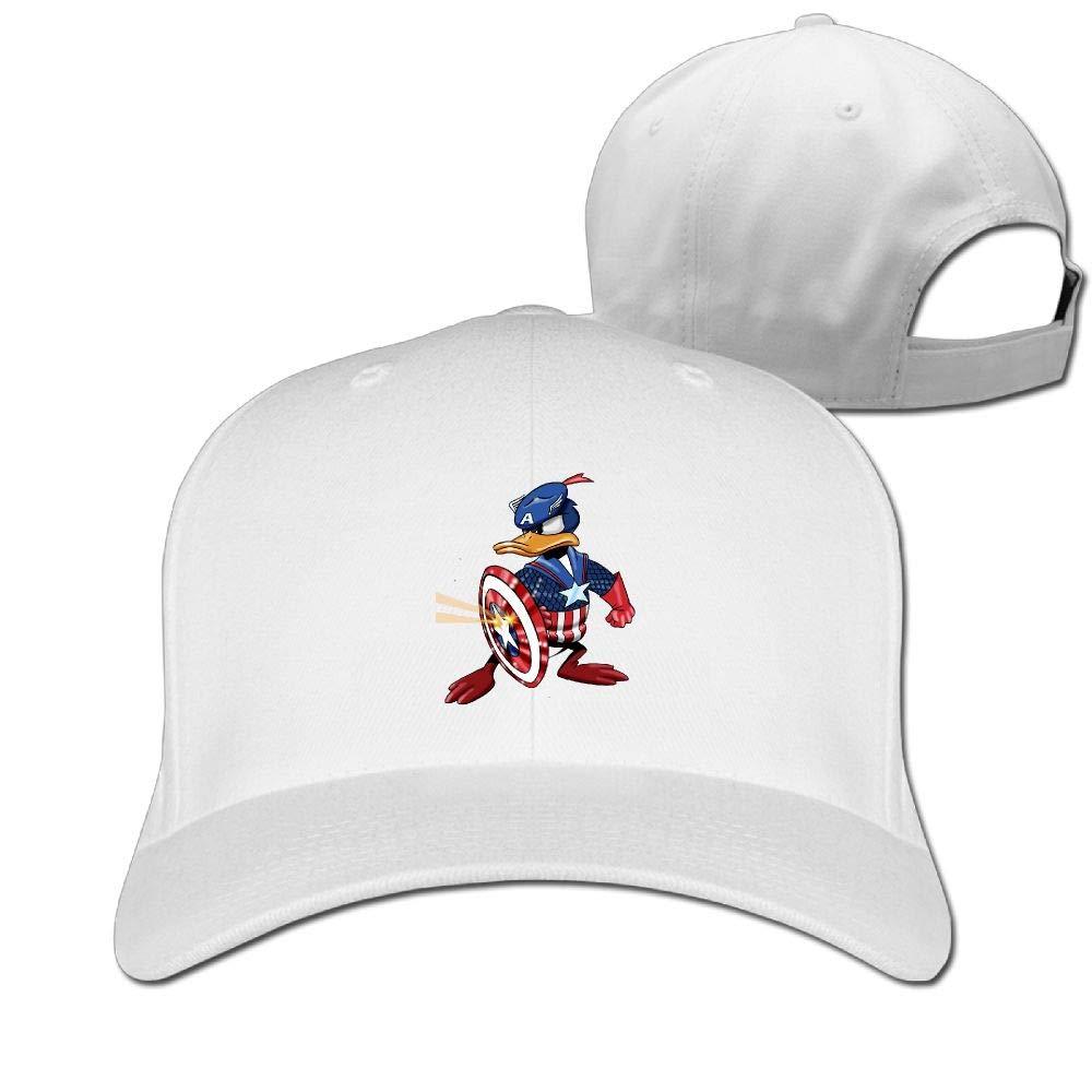 a2b3bf0f6f0 Aiguan Captain Donald Duck Cap - Classic 100% Cotton Hat Ash at Amazon  Men s Clothing store