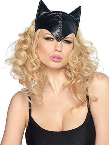 Leg Avenue Women's Feline Femme Fatale Mask Costume Accessory, Black, One -
