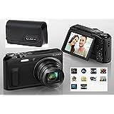 Panasonic / Lumix DMC-TZ57 High Zoom Camera 20 x Optical / 40 x Intelligent Zoom / 16MP / Full HD Rec/ WiFi / 7.7 Cm Tiltable Screen For Selfie - Inc Full Accessories