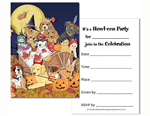 2 Boxes, Animal Pet Gifts, Pet Party Halloween Postcards