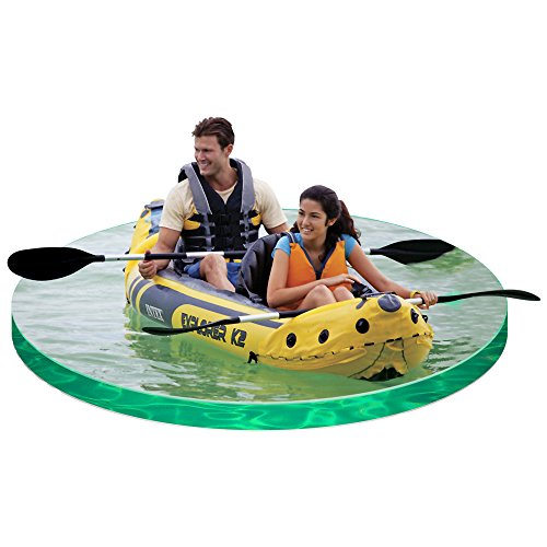 51Idqaesc0L. SS500  - Intex Explorer K2 Kayak, 2-Person Inflatable Kayak Set with Aluminum Oars and High Output Air Pump