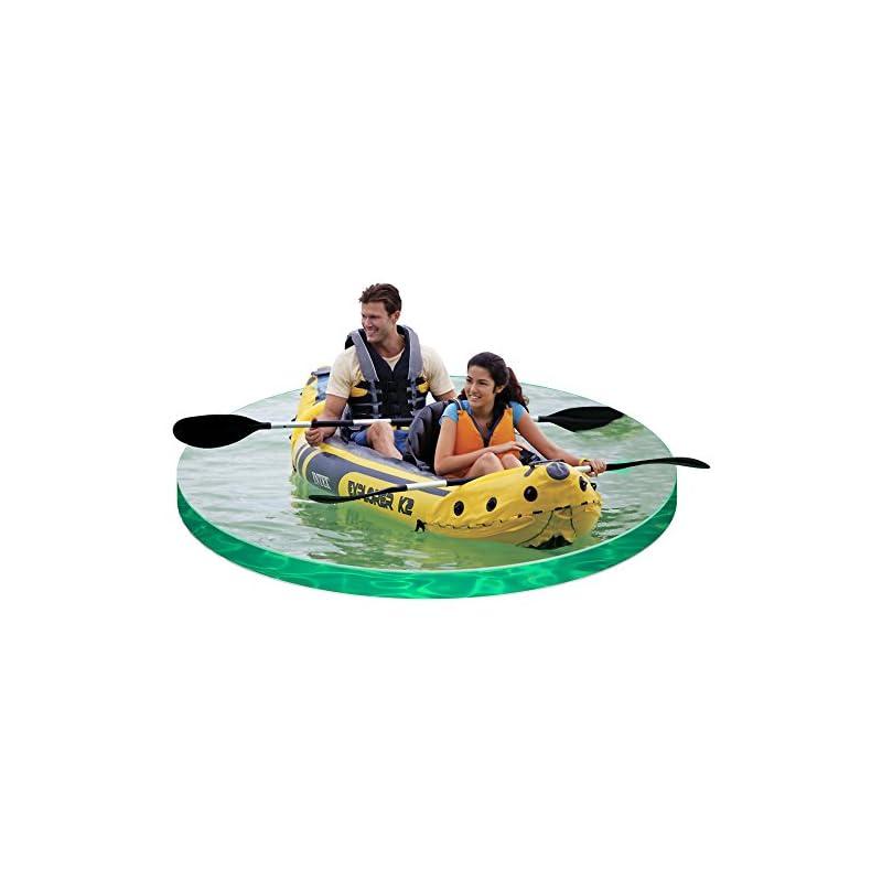 Intex Explorer K2 Kayak, 2-Person Inflatable Kayak Set with Aluminum Oars and High Output Air Pump