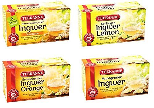 Teekanne Ingwer Tee Mix Ingwer Pur Ingwer Orange Ingwer Zitrone